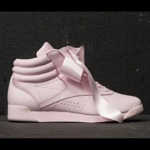 Reebok freestyle hightop sneakers with satin bow 8
